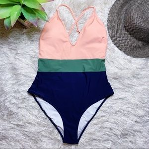 NWT Cupshe Color Block One Piece